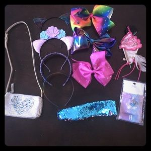 Other - Girls accessories-bows, headbands,jewelry, handbag